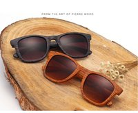 Wholesale Wooden ray Sunglasses Aritificial Wood Grain Temple Brand Design Summer Style Unisex Sun Glasses Vintage women sunglasses Oculos De Sol