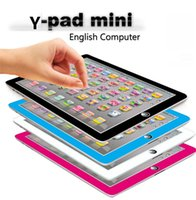 Wholesale newest Learning Toy game Tablet pad chinese English Computer Laptop Y Pad Kids Game Music Education Christmas Electronic Notebook B1116