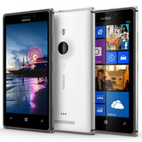 925 smart achat en gros de-Original remis à neuf Nokia Lumia 925 Windows Phone 4.5 pouces Dual Core 1 Go de RAM 16 Go ROM 8MP Caméra WIFI GPS 3G Unlocked Smart Phone Free Post