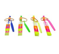 Wholesale baby boys girls LED Arrow Rocket Flashing Flying Toy for children kids Amazing Arrow Helicopter toy Birthday Gift party