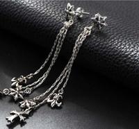 Wholesale Popular European American style sterling silver tassel earring fashionable original designed newest earring jewelry