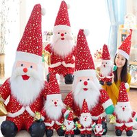 Wholesale Santa Claus doll plush toys Christmas decorations and Christmas gifts for children