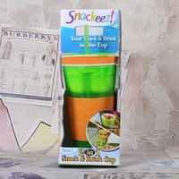 Wholesale Snackeez Multifunctional Straw Cup Snack Drink Integrated Type Separate Cups Your Snacks And Drink In One Cup hk