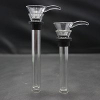 Wholesale Replacement Slide for Base Water Pipes Base beakers Straight Tubes Glass Bowl for Glass Bong Different length