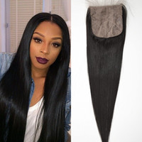 Straight baby base - Mongolian A Hair Straight Silk Base Closure Natural Color Human Hair Free Part Cheap Silk Base Closure with Baby Hair
