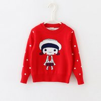 baby jumper pattern - Baby Kids Clothing girls Sweaters Pullover Spring Autumn Winter Little girl pattern Cotton Thicken Knitwear Knitting for children