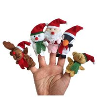 Wholesale Niosung New arrival pc Cute Cartoon Story Time Christmas Santa Claus and Friends Finger Puppets Toy Child Baby Favor Dolls