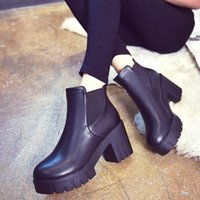 Wholesale- 2016 nouvelle mode Chaussures Femmes Chaussures Chaussures Ultra High Thick Heel Chaussures Chaussures Femme Winter Ankle Boots S706