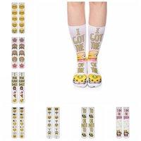 Wholesale Emoji Socks D Print Long Socks Unisex Casual Cotton Socks Sports Emoji Design Mens Women Stocking Designs OOA1260
