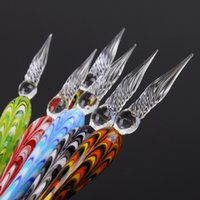 Wholesale New Creative Crystal Glass Dip Signature Pen Office Stationery Repeated Filling Ink Special Pens Best Birthday Gifts Colors