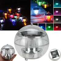 Wholesale Solar Power Waterproof Floating LED Lamp Light Colors Changing Floating Globe Swimming Pool Bathtub Lawn Balcony Christmas Xmas Party