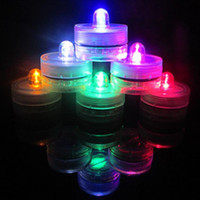 Beeswax beeswax tea lights - 2016 Beautiful Romantic Waterproof Submersible LED Tea Light Holiday Birthday Wedding Decoration Multicolor Led Candle Light