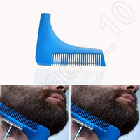 Wholesale 10 Colors Beard Bro Beard Shaping Tool for Perfect Lines Hair Trimmer for Men Trim Template Hair Cut Gentleman Modelling Comb