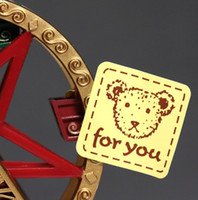 Wholesale 800pcs FOR YOU lovely bear gift adhesive sticker for cake bag gift packing sealing paste