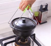 Wholesale Hot Green Can be pressure Creative kitchen multi purpose stainless steel bowlware anti hot dishes Clip