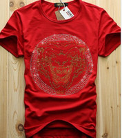 Wholesale men luxury diamond design Tshirt fashion t shirts men funny t shirts brand cotton tops and tees