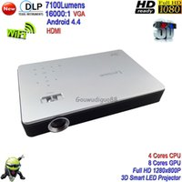 Wholesale 2017 New K DLP High Brightness WiFi Lumens D Home Theater Projector Full HD P Android Smart LED Projector