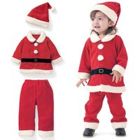 Wholesale boy girl Christmas Costume Santa Christmas Christmas children clothing Western Style occidental Clothing Sets Santa baby clothes