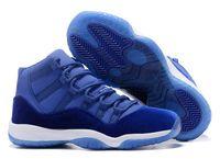 Wholesale New Retro Velvet Blue Men Women Basketball Shoes Retro s Royal Blue Velvet Sports Sneakers High Quality With Shoes Box