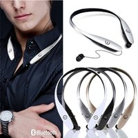 Wholesale Bluetooth Headset HBS900 HBS Headphones In Ear Noise Cancelling LG L G Tone Infinim with CSR8645 chip lg neckband Earphones