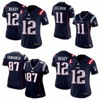 Wholesale 2016 Newest women Patriots Color Rush Limited jerseys Julian Edelman New England cheap Patriots Tom Brady cheap jerseys size S xl