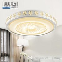 Wholesale LED ceiling lamp Hot sales Modern round Bauhinia flower petals livingroom Bedroom iron acrylic dimmable indoor Lamps