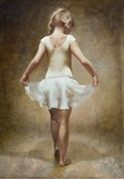 ballet portrait - SMALL BALLET GIRL Pure Handpainted Portrait Art Oil Painting On High Quality Canvas customized size tiann