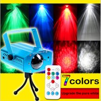 Wholesale 12W Colors LED Water Wave Ripple Effect Stage Light disco dj party Light Lights Projector Lamps star shower Laser Light