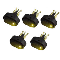 Wholesale 30 Amp Volt Green LED ON OFF Rocker Switch Toggle Triangle Plug Switch For Car Motorcycle Boat Marine Red Yello Blue Green