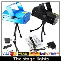 Wholesale Holiday Sale Blue Mini Laser Stage Lighting mW Mini Green Red LED Laser DJ Party Stage Light Black Disco Dance Floor Lights