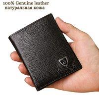 Petits portefeuilles hommes en cuir véritable porte-monnaie en peau de vache mini porte-monnaie noir et marron garantie de qualité !!!