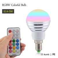 Wholesale RGBW Led Light Bulb E14 W AC85V V LEDs Lamp Spotlight Stage Lighting Effect Holiday Party Disco KTV Home Decor dropshipping