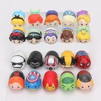 10pcs / set Tsum Tsum chiffres jouets Princesse neige blanche sirènes Avengers Star Wars Wolverine SpiderMan PVC Mini figure d'action cadeau