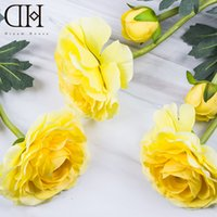 Wholesale DH Ranunculus fake flower home decoration diy wedding flowers decor flores artificiais christmas ornament xmas decoration