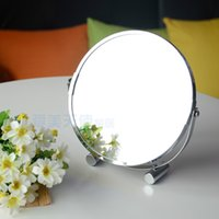 bathroom definition - large inch fashion high definition desktop makeup mirror Face metal bathroom mirror X magnifying round pin rotating