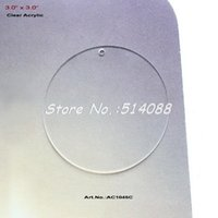 Wholesale Blank Clear Acrylic Circle Ornaments Discs Key Chain Neclace Scrapbooking quot AC1045C