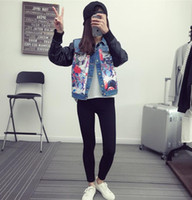 basic denim - Women Autumn and spring fashion Denim Jacket Lapel Long Sleeve Single breasted Fashion Basic Coat jeans coats
