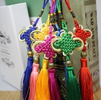 Wholesale Handmade Chinese Knot Tassel with a Special Chinese Style Bead Hanging for Decoration