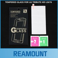 best tributes - 50pcs D Best Quality Tempered Glass Screen Protector Hardness Explosion Proof Anti Scratch for LG TRIBUTE HD LS676 Screen Protector Film