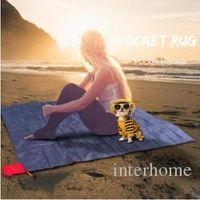 Wholesale Sports Pocket Rug Pocket Picnic Blanket Mat Lightweight Sand Free Picnic Blankets Mat Waterproof Portable Easy Fold Outdoor Pads G41