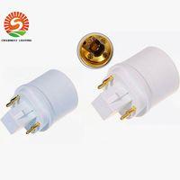 Wholesale 4 pins G24Q male to E26 female GX24Q GX24Q GX24Q pins GX24 to E27 adapter GX24 to E26 lamp holder converter