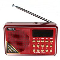 Wholesale Portable Mini Radio Fm Speakers with Clock Support SD Card