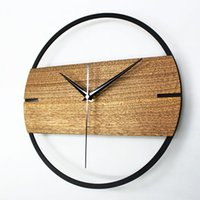 Wholesale Theatrical Style Wall Clock Creative Nordic Watch Home Decor Wooden quot