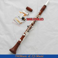 bb clarinet mouthpiece - Professional Rose Wooden Key Bb Clarinet Boom System With Metal Mouthpiece