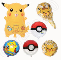 Wholesale Pikachu Poke Ball Foil Balloon Kids Baby Boy Girl Party Birthday Favor Supply Props Gift designs OOA787
