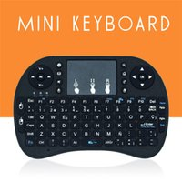 Wholesale Portable i8 wireless GHZ mini keyboard bluetooth Multi Media USB Remote Control Touchpad for pc pad Google andriod