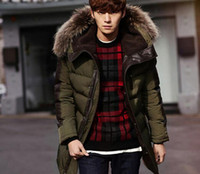 Wholesale 2016 winter cotton padded clothes new men s cultivate one s morality collars and velvet paragraph hooded grows in warm cotton padded jacket