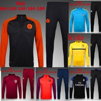 Wholesale 16 real madrid Tracksuits top quality Training suit BENZEMA JAMES BALE kids juve Atletico Madrid Chelsea football Tracksuits Real Madrid