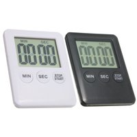 Wholesale White Black Electronic Digital LCD Magnetic Countdown Timer Count Down Egg Kitchen Minute