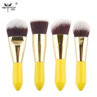 Precio de Cepillos para el cabello viajes-Maquillaje cosmético conjunto de pinceles 4 piezas Kabuki cepillos sintético pelo etapa maquillaje herramientas conjunto de pincel maquillaje kit de viaje